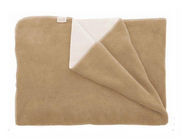 Obojstranná deka teplá, fleece, béžová-smotanová  rozmer 70x100cm