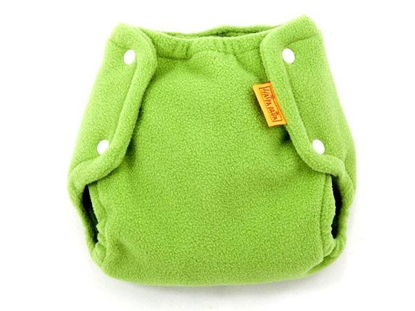 Svrchní kalhotky na látkové pleny fleece, zelené s 2,5-5kg