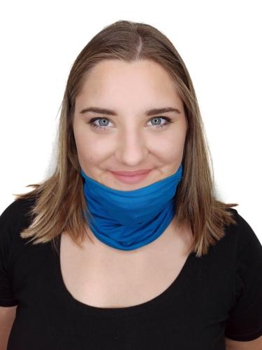 Multifunkční šátek, tunel, nákrčník, tmavý tyrkys, 2 velikosti