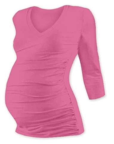 Maternity T-shirt Vanda, 3/4 sleeves, PINK