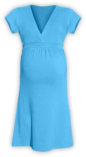 Tehotenské šaty Šarlota, tyrkysové