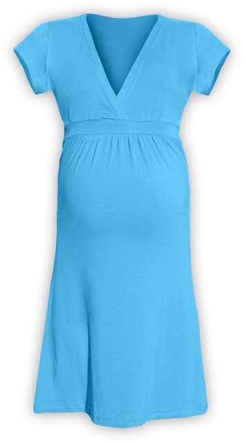 Těhotenské šaty Šarlota, tyrkysové