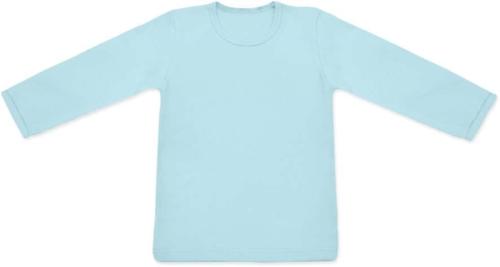 dětské tričko DLOUHÝ RUKÁV s elastanem, SVĚTLE MODRÁ