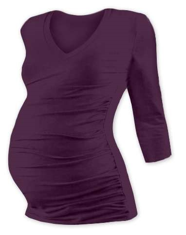 VANDA- maternity T-shirt, 3/4 sleeves, PLUM VIOLET