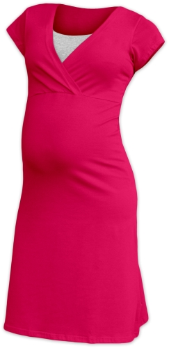 Maternity and breast-feeding nightdress Eva, dark pink