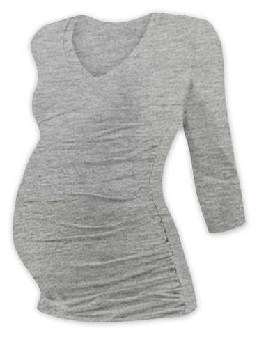 Maternity T-shirt Vanda, 3/4 sleeves, GREY MELANGE