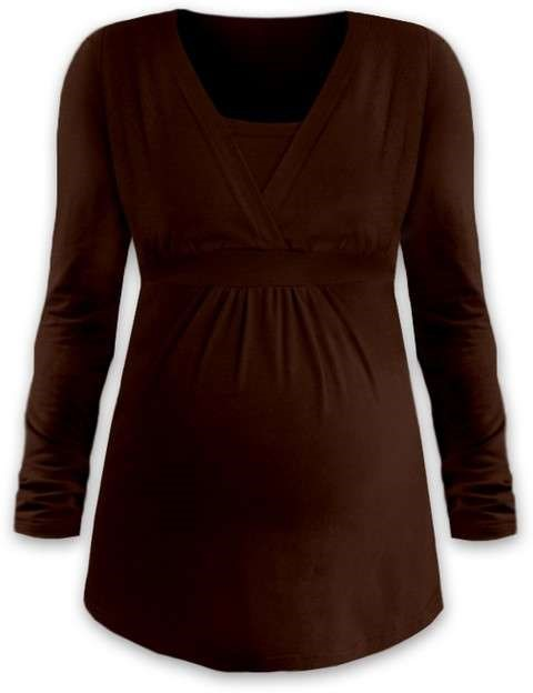 ANICKA- maternity and breast-feeding tunic, CHOCOLATE BROWN