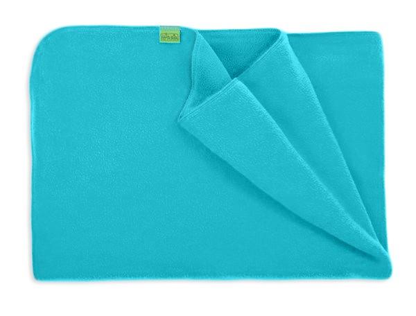 Warm fleece blanket- turquoise 70x100cm