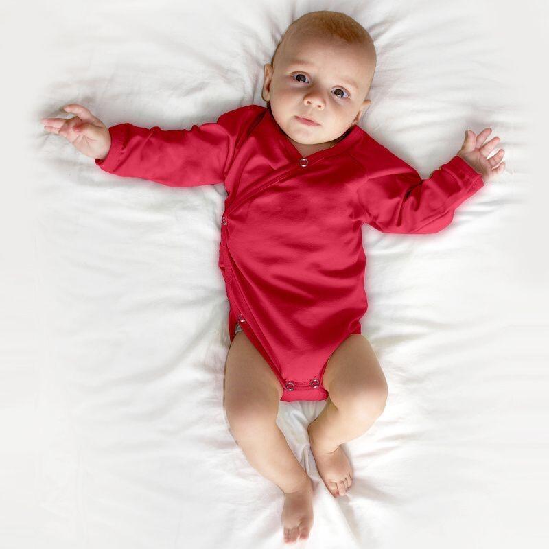 Wickelbody für Babys, lachsrosa