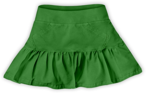 Girl's skirt, dark green