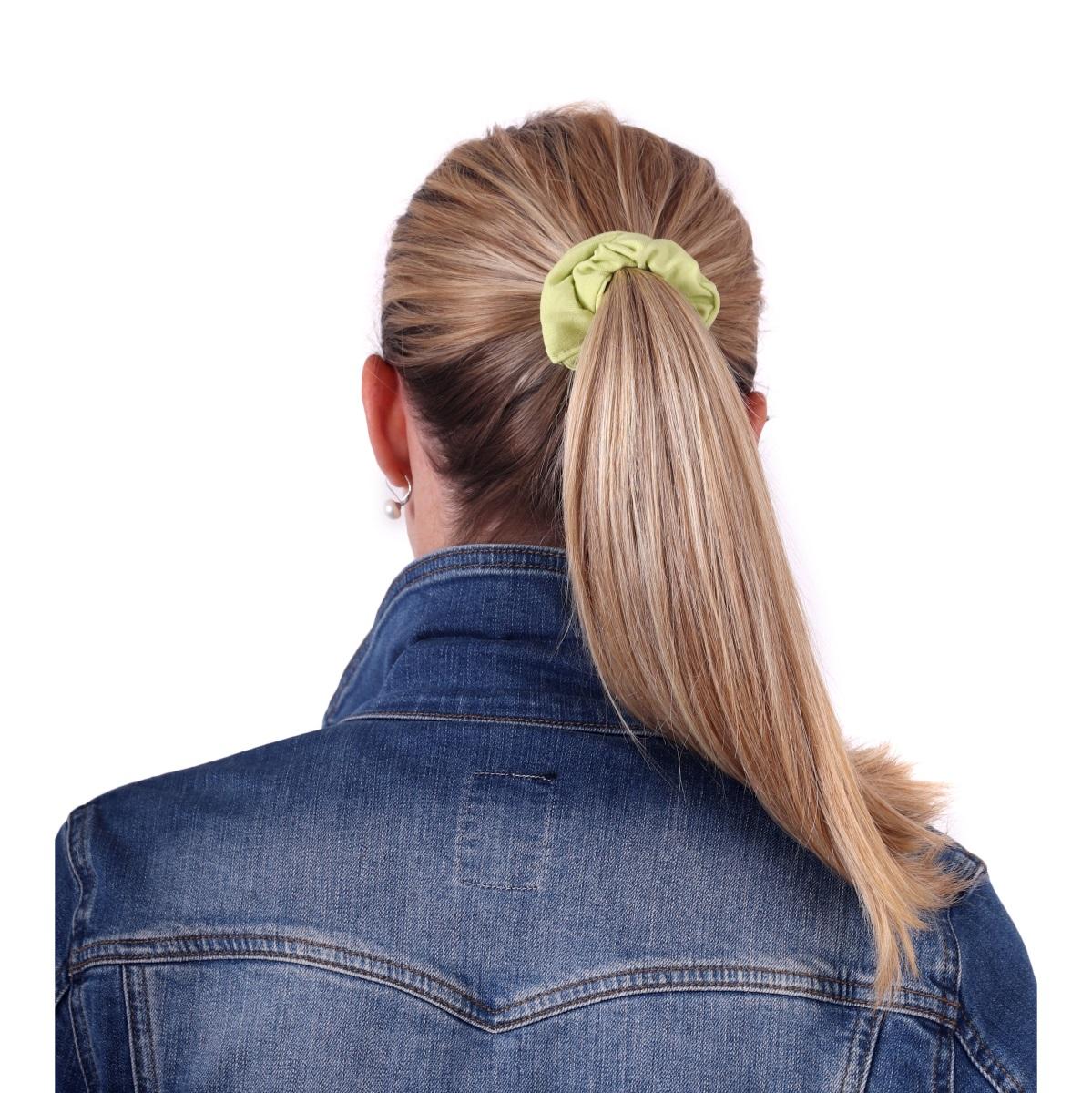 Látková gumička do vlasů, malá, světle zelená