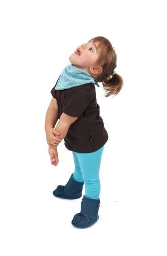 Detské tričko, krátky rukáv, čokoládovo hnedé