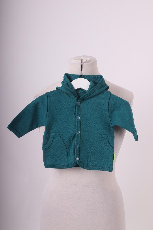Bio-kojenecký kabátek, petrolejový, 56