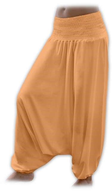 Těhotenské turecké kalhoty, oranžové