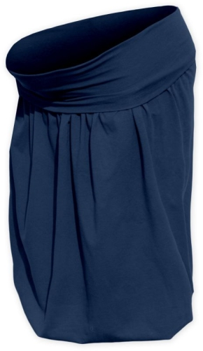 Tehotenská sukňa balónová Sabina, tmavo modrá (jeans)
