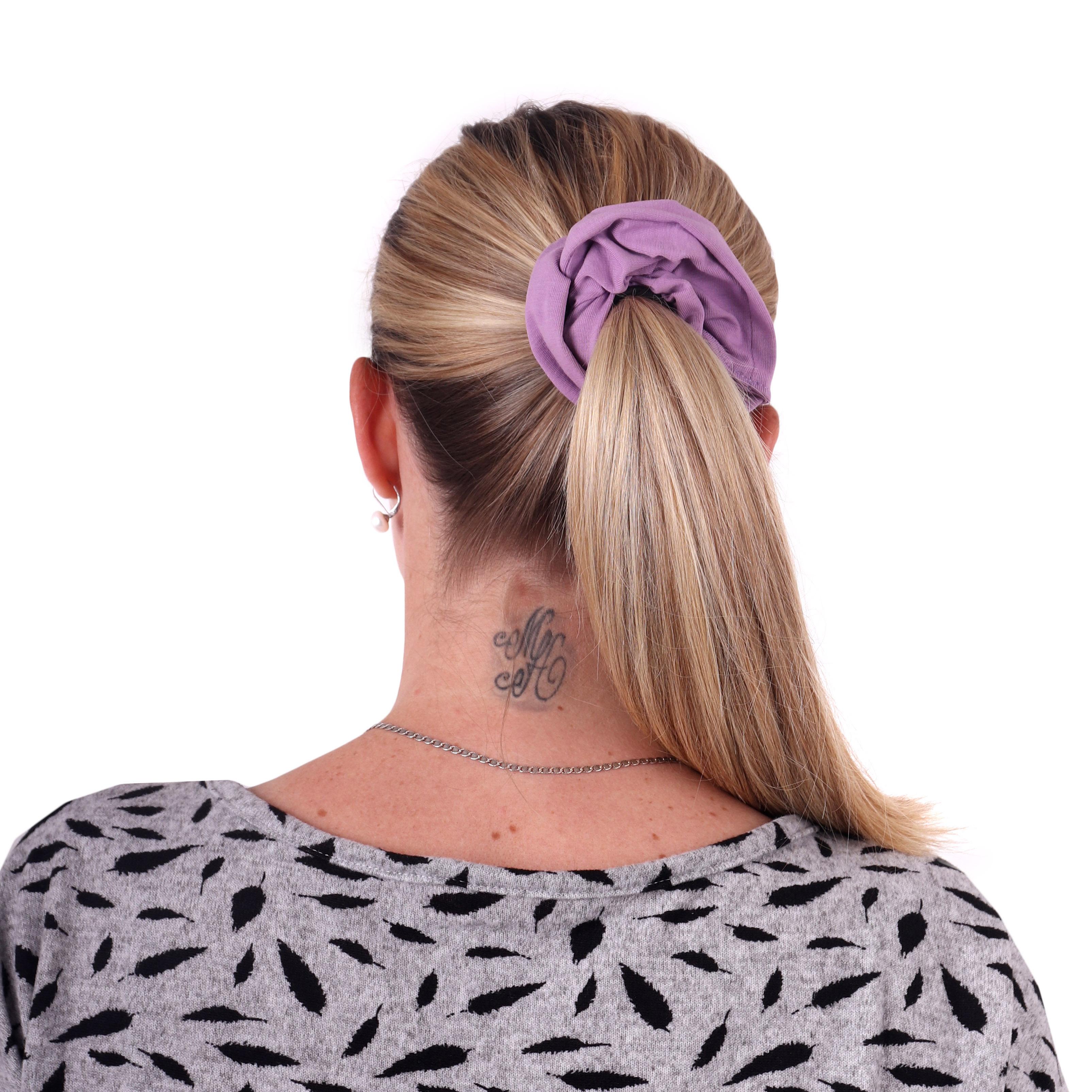 Látková gumička do vlasů, velká, fialková