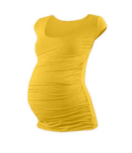 Těhotenské tričko Johanka, mini rukáv, žlutooranžové