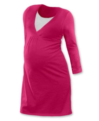 Maternity and breast-feeding nightdress Lucie, DARK PINK