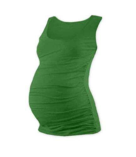 T-shirt for pregnant women Johanka, no sleeves, DARK GREEN