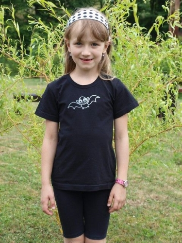 Children's T-shirt, short sleeve, black