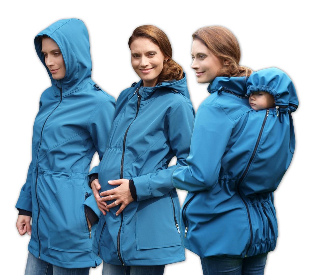 ALICE- babywearing softshell jacket (front/back use), PETROLEUM