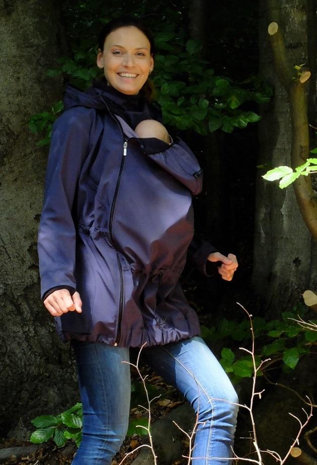 Softshellová těhotenská a nosící bunda pavla 2, tmavě modrá m/l