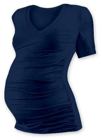 Těhotenské tričko Vanda, krátký rukáv, jeans (tmavě modré)