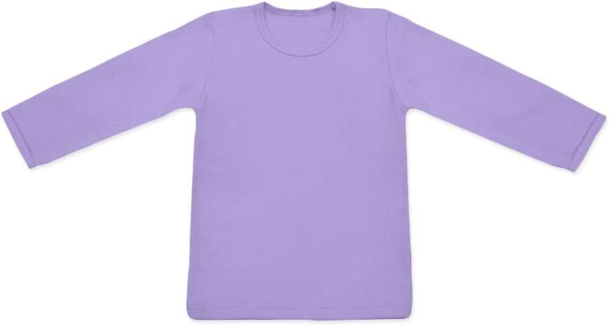 detské tričko DLHÝ RUKÁV s elastanom, LEVANDUĽOVÝ