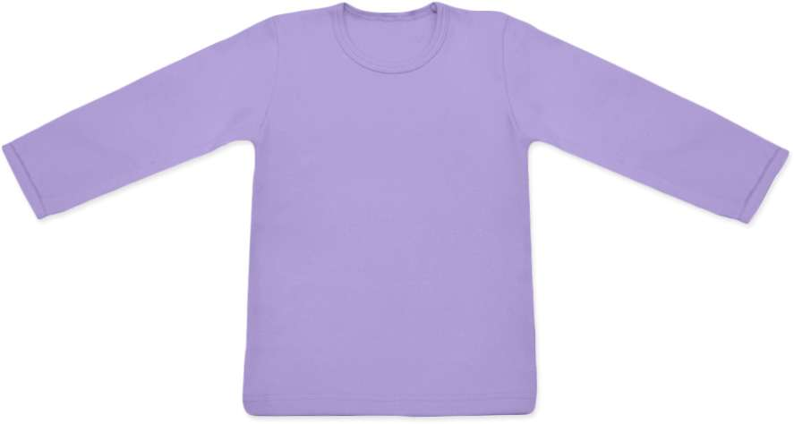 dětské tričko dlouhý rukáv s elastanem, levandulová 134