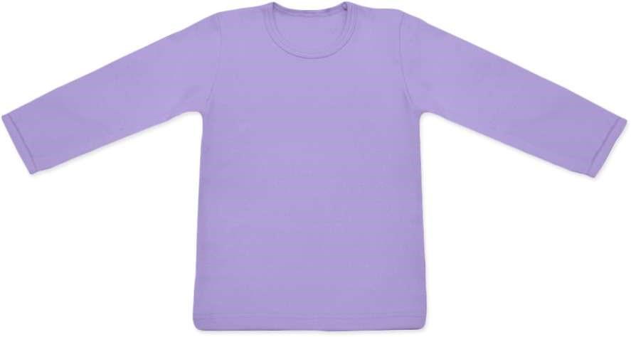 dětské tričko DLOUHÝ RUKÁV s elastanem, LEVANDULOVÁ