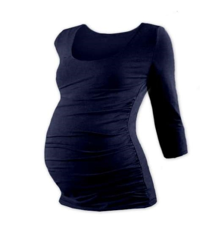 JOHANKA- maternity T-shirt, 3/4 sleeve, DARK BLUE