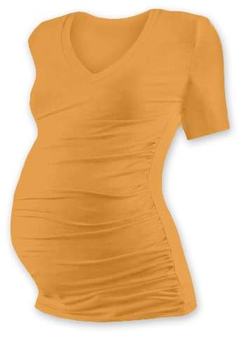 Těhotenské tričko Vanda, krátký rukáv, oranžové