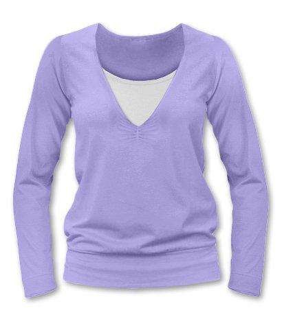 KARLA- breast-feeding T-shirt, long sleeves, LILA