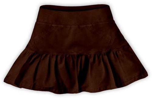 Dievčenské (detská) sukne, ČOKO HNEDÁ