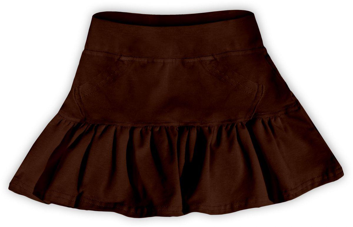 Dívčí (dětská) sukně,  ČOKO HNĚDÁ