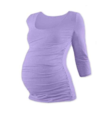 Maternity T-shirt Johanka, 3/4 sleeve, LAVENDER