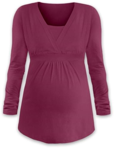 ANICKA- maternity and breast-feeding tunic, CYCLAMEN