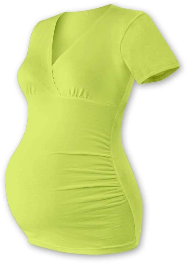 Těhotenská tunika Barbora, krátký rukáv, světle zelená