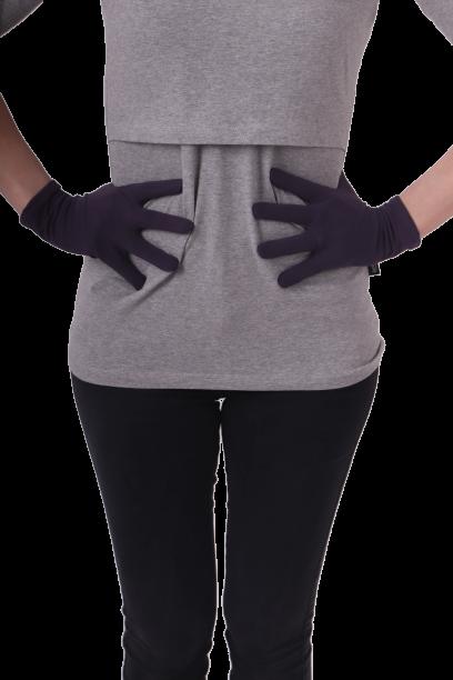 Baumwollhandschuhe für Damen,pflaume