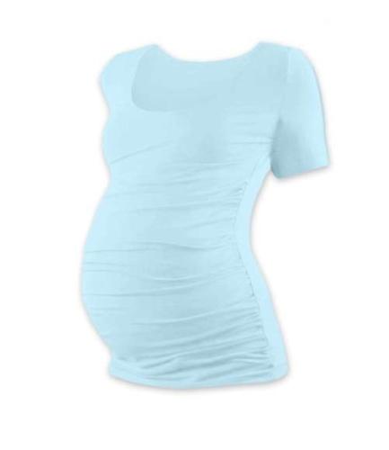 Těhotenské tričko Johanka, krátký rukáv, světle modré