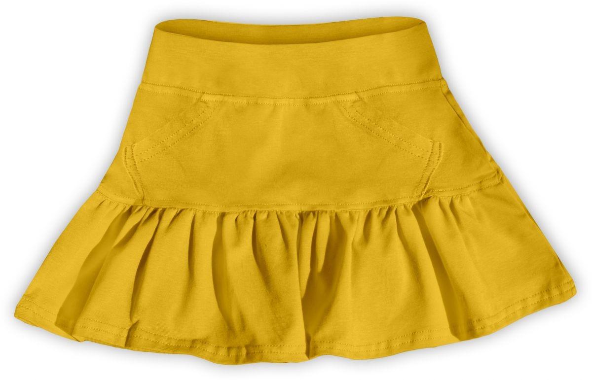 Dívčí (dětská) sukně,  ŽLUTOORANŽOVÁ