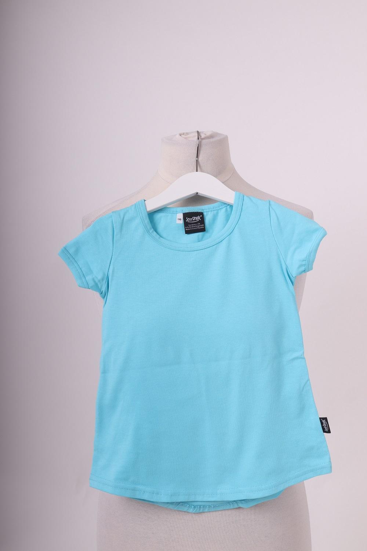 Dívčí tunika, krátký rukáv, tyrkysová, 116