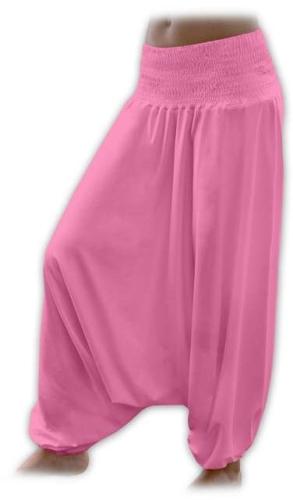 Těhotenské turecké kalhoty, růžové