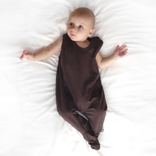 Dojčenské dupačky bavlnené, čokoládovo hnedé