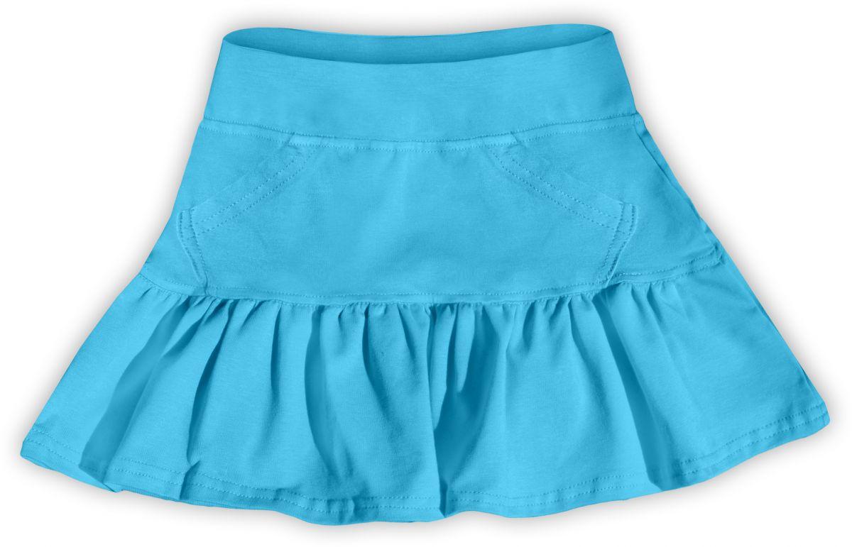 Dívčí (dětská) sukně,  tyrkysová, velikost 122