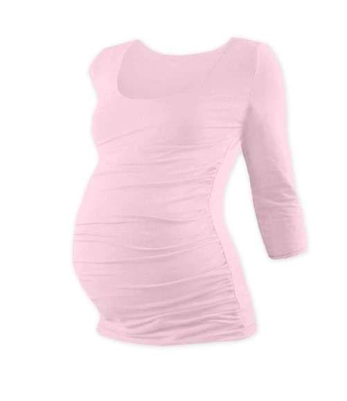 JOHANKA- těhotenské tričko, 3/4 rukáv, SV. RŮŽOVÁ