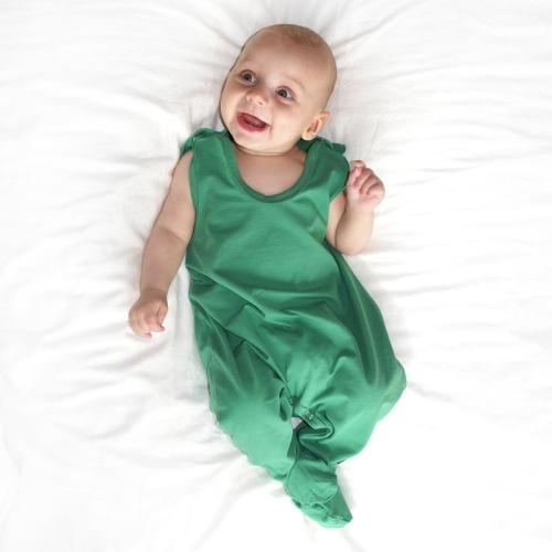 Strampler für Babys, dunkelgrün