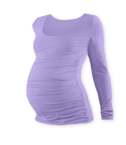 Tehotenské tričko Johanka, dlhý rukáv, levanduľovo fialové