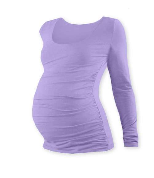 Těhotenské tričko johanka, dlouhý rukáv, levandulově fialovém l/xl