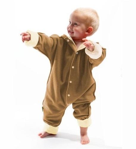 Zimní kombinéza pro miminko, velikost 62-92, béžová